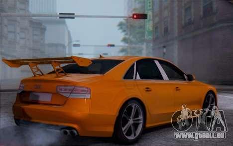 Audi A8 2010 für GTA San Andreas linke Ansicht