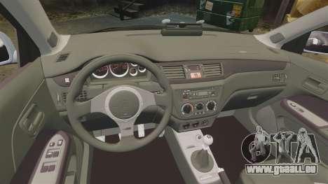 Mitsubishi Lancer Unmarked Police [ELS] für GTA 4 Innenansicht