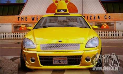 Declasse Premier Taxi pour GTA San Andreas vue de dessous
