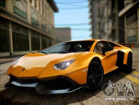 Lamborghini Aventador LP720 für GTA San Andreas zurück linke Ansicht