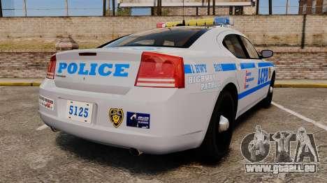 Dodge Charger LCPD [ELS] pour GTA 4 Vue arrière de la gauche