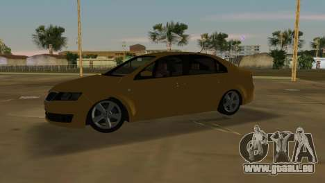 Skoda Rapid 2013 für GTA Vice City linke Ansicht