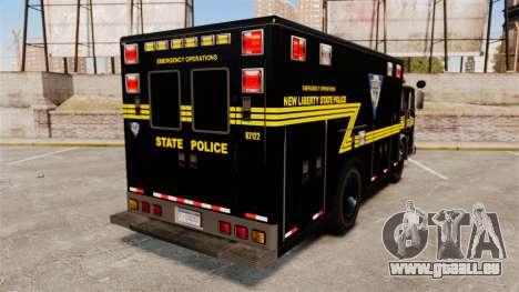Hazmat Truck NLSP Emergency Operations [ELS] pour GTA 4 Vue arrière de la gauche