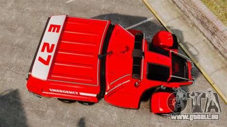 Pro Track SR2 Firetruck [ELS] für GTA 4 rechte Ansicht