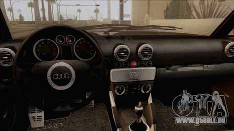 Audi TT 1.8T pour GTA San Andreas vue de droite