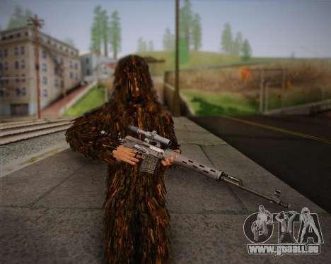 Le tireur d'élite de Arma 2 peau pour GTA San Andreas quatrième écran