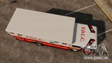 Hazmat Truck FDLC [ELS] für GTA 4 rechte Ansicht