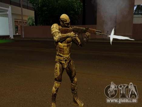 Nano-combinaison coréen de Crysis pour GTA San Andreas cinquième écran