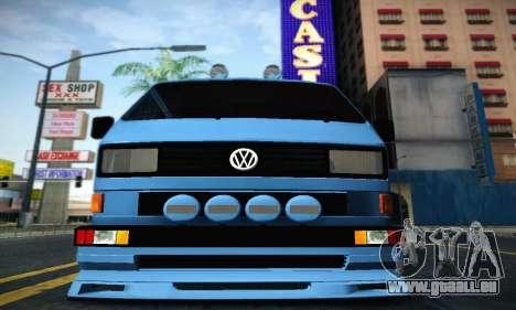 Volkswagen Transporter T2 Tuning pour GTA San Andreas sur la vue arrière gauche