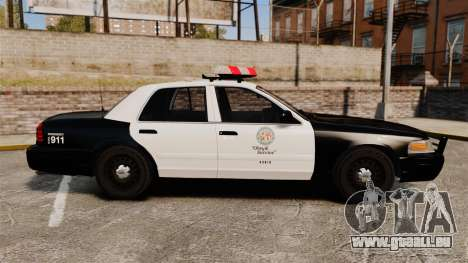 Ford Crown Victoria 1999 LAPD & GTA V LSPD pour GTA 4 est une gauche