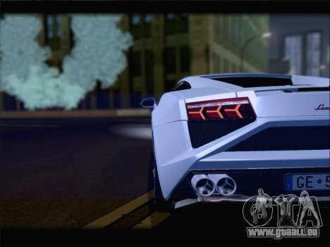 Lamborghini Gallardo 2013 pour GTA San Andreas vue de dessus
