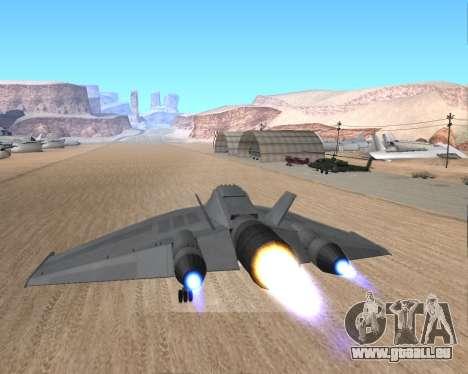 StarGate F-302 pour GTA San Andreas vue de côté