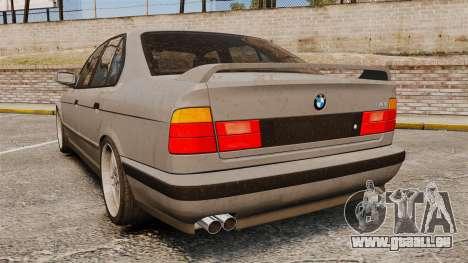 BMW M5 E34 pour GTA 4 Vue arrière de la gauche