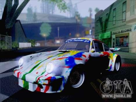 Porsche 911 RSR 3.3 skinpack 6 für GTA San Andreas zurück linke Ansicht