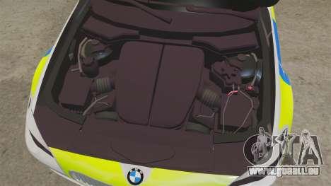 BMW 550d Touring Metropolitan Police [ELS] pour GTA 4 est une vue de l'intérieur