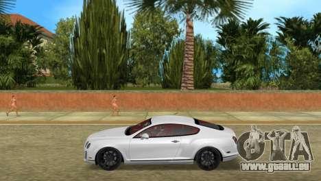 Bentley Continental Extremesports pour une vue GTA Vice City de la gauche