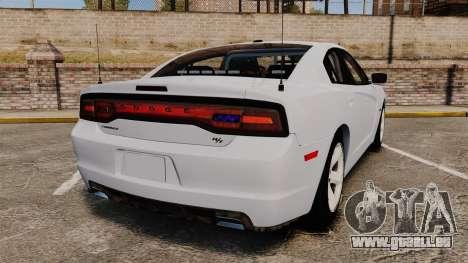 Dodge Charger RT 2012 Unmarked Police [ELS] pour GTA 4 Vue arrière de la gauche