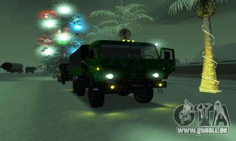 Armee KAMAZ 4310 für GTA San Andreas Rückansicht