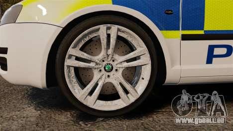 Skoda Superb 2006 Police [ELS] Whelen Edge pour GTA 4 Vue arrière