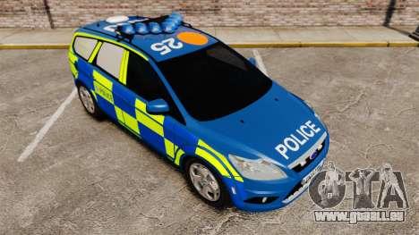 Ford Focus Estate 2009 Police England [ELS] pour GTA 4 est un côté