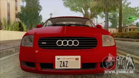 Audi TT 1.8T für GTA San Andreas Rückansicht