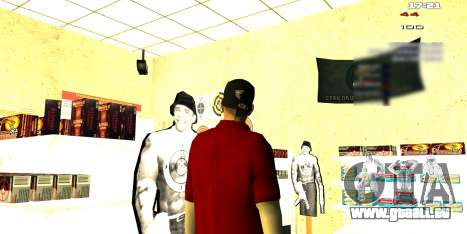 Deux axées sur l'intérieur changer pour GTA San Andreas quatrième écran