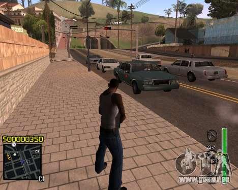 C-HUD v1 pour GTA San Andreas deuxième écran
