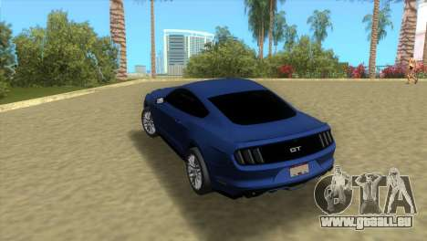 Ford Mustang GT 2015 für GTA Vice City zurück linke Ansicht