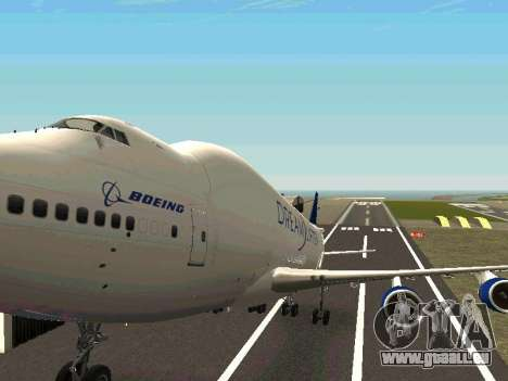 Boeing-747 Dream Lifter pour GTA San Andreas vue de dessus