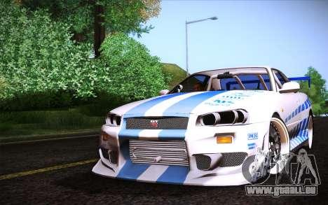 Nissan Skyline R34 FnF für GTA San Andreas