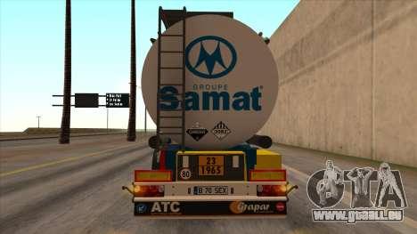 Réservoir SMAT pour GTA San Andreas laissé vue