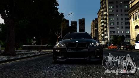 BMW X6 M Hamann 2013 Vossen für GTA 4 hinten links Ansicht