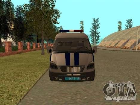 GAZ Police Sable pour GTA San Andreas laissé vue