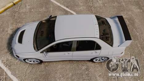 Mitsubishi Lancer Unmarked Police [ELS] für GTA 4 rechte Ansicht