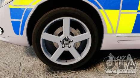Volvo V70 Metropolitan Police [ELS] pour GTA 4 Vue arrière