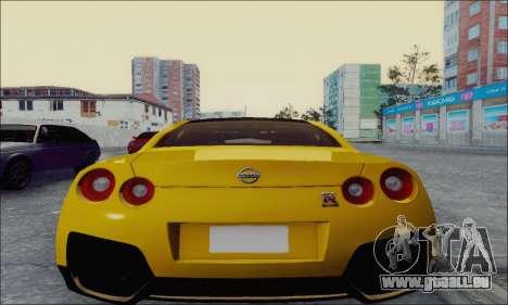 Nissan GT-R Spec V pour GTA San Andreas sur la vue arrière gauche