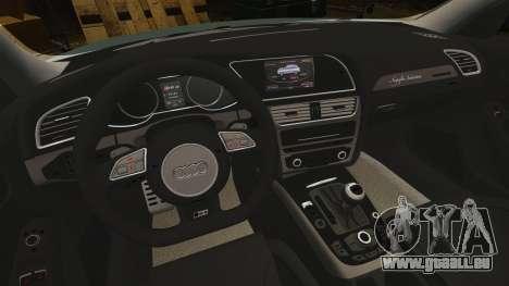 Audi RS4 Avant pour GTA 4 est une vue de l'intérieur