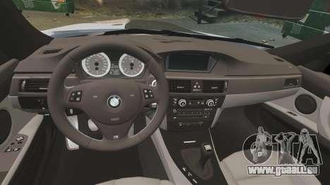 BMW M3 E92 pour GTA 4 est une vue de l'intérieur