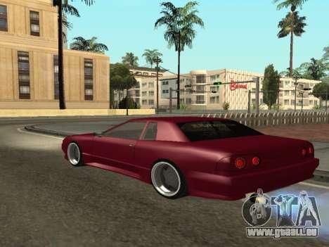 JTX Tuned Elegy pour GTA San Andreas sur la vue arrière gauche