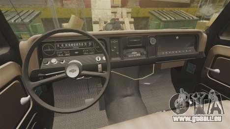 Chevrolet Tow truck rusty Rat rod pour GTA 4 est une vue de l'intérieur