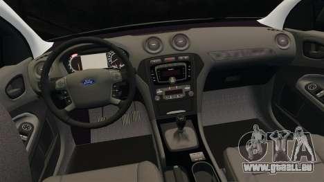 Ford Mondeo Metropolitan Police [ELS] für GTA 4 obere Ansicht
