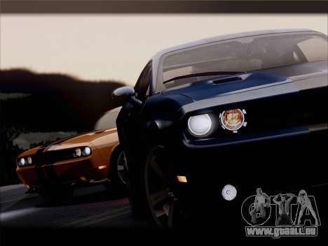 Dodge Challenger SRT8 2012 HEMI pour GTA San Andreas salon