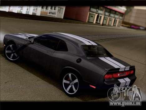 Dodge Challenger SRT8 2012 HEMI für GTA San Andreas zurück linke Ansicht
