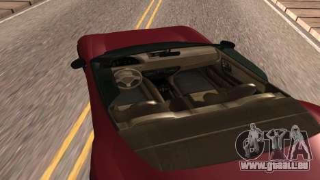 Carbonizzare de GTA 5 pour GTA San Andreas sur la vue arrière gauche