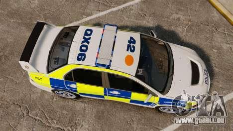 Mitsubishi Lancer Evolution IX Police [ELS] pour GTA 4 est un droit