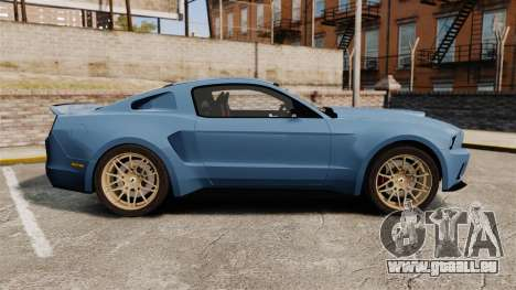 Ford Mustang GT 2013 Widebody NFS Edition pour GTA 4 est une gauche