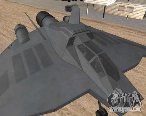 StarGate F-302 pour GTA San Andreas sur la vue arrière gauche