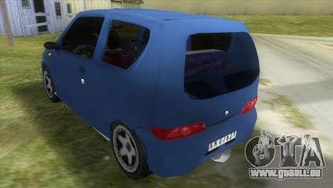 Fiat Seicento für GTA Vice City zurück linke Ansicht