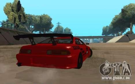 Toyota Soarer pour GTA San Andreas sur la vue arrière gauche
