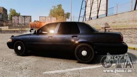 Ford Crown Victoria Stealth [ELS] pour GTA 4 est une gauche